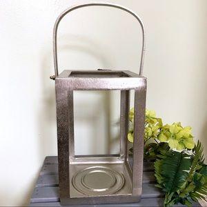 Other - Metal Lantern Candle Holder Large - Silver | NWOT